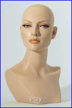 Mannequin Head Female Wig Display Heads from VaudevilleMannequins.com Liliana
