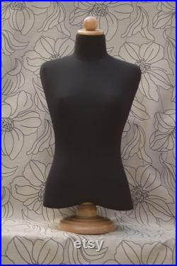 Mannequin Torso Black Cotton Maniquin Vintage Style Dress Form Jewelry bust display Torso paper mashe Tailor Dummy Jewelry Holder Organizer