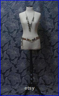 Mannequin Torso Calico Maniquin Vintage French Style Dress Form Jewelry bust display Torso paper mashe Tailor Dummy Jewelry Holder Organizer