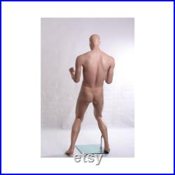 Men's Male Sports Mannequin in Celebratory Pose Celebrating Victory Realistic Male Mannequin PW1