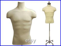 Men's Shirt Form Dress Form Body Form Mannequin Torso With Shoulders Fully Pinnable With Base 33DD01