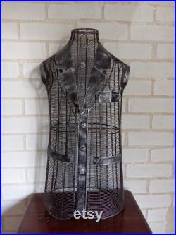 Metall Clad bust Mannequin metall Handemade Form Model Vintage Design