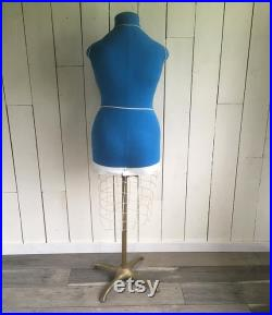 Mid Century Evelyn Berney Dressmaker's Form Tailor's Form, Blue Dress Form, Mannequin, Dress Dummy