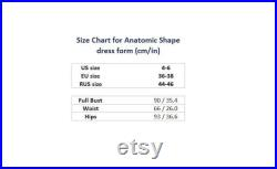NEW Soft fully pinnable professional female dress form with anatomic detailing mannequin torso tailor dummy