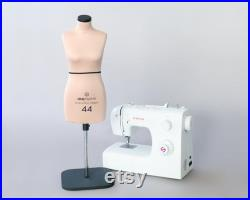 NIKA Half scale soft sewing dress form Anatomic miniature mannequin torso for draping Fully pinnable dressform Tailor dummy