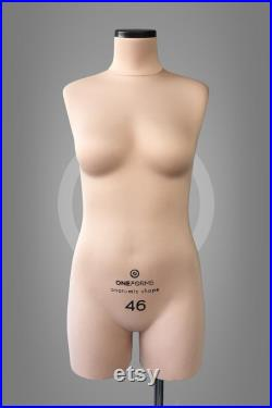 NINA Soft anatomic tailor dress form Professional tailor mannequin torso Fully pinnable Tailor dummy Perfect for lingerie design