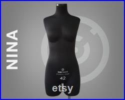 NINA Soft sewing dress form with legs Professional anatomic mannequin torso Fully pinnable Tailor dummy Available with stand