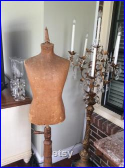 ON SALE -Antique French Mannequin Old Paper Mache Board Mercantile Mannequin Form Display Late 1800s Early 1900s