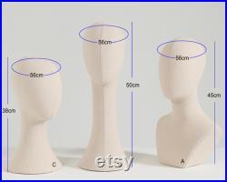 Pinnable Mannequin Holder Stand, White-Lace Surface Mannequin Head Stand, Hat Stand, Hat display Stand, Hat Block, Hat Holder, KS215