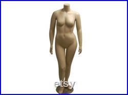 Plus Size Headless Fleshtone Female Mannequin PLUSF1