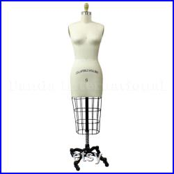 Professional Female Half Body Sewing Dress Form Collapsible Shoulders Sizes 2-24