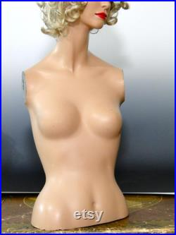RESERVED for Will Do NOT Purchase FINAL Layaway Payment Vintage Mannequin Decter Head Torso for Hat Wig Jewelry Lingerie E-Commerce Photos