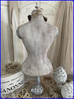Rarity Antique table bust corset bust