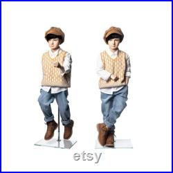 Realistic Fiberglass 6 Year Old Kids Fleshtone Mannequin with Flexible Joints and Base KM6Y