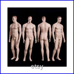 Realistic Full Body Male Mannequin with Molded Hair and Facial Features WEN5