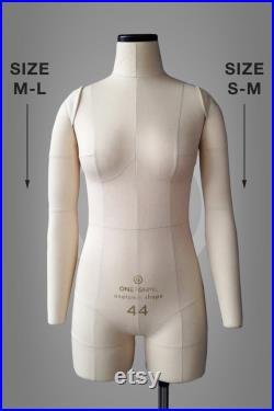 SET OF ARMS for Sofia and Anastasia dress forms, cotton cover Pinnable soft arms for draping, pattern making Mannequin accessory, sewing