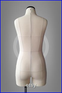 SOFIA Soft anatomic tailor dress form with legs and construction lines Tailor mannequin torso Fully pinnable With optional stand