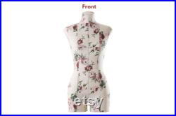 Sewing Dress form Soft Flexible Fully Pinnable Professional Female Mannequin with Adjustable Stand Mannequin torso Monica Light Floral