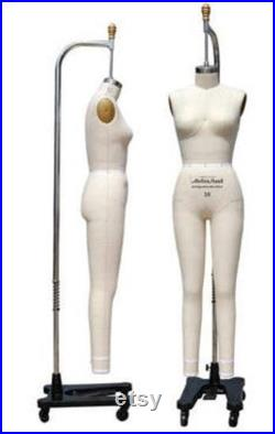 Size 8 FullBody Professional Tailors Female Dress Form with Collapsible Shoulder