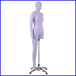 Soft Flexible Fully Pinnable Professional Female Sewing Dress Form with Adjustable Height Mannequin with Arm, Leg and Head Monica Art