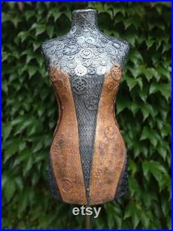 Steampunk decor, Steampunk bust, Girl sculpture, Silver sculpture, Industrial art,Woman sculpture, Steampunk sculpture, Steampunk mannequins
