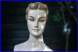 VINTAGE half body female MANNEQUIN Art Deco style 1930s