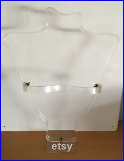 Vintage 1930s Art Deco Lucite Mannequin by Rene Herbst for the Siegel Mannequin Company