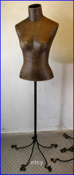 Vintage Bronze Colour Papier Mache Style Mannequin