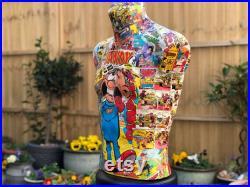Vintage Comic Mannequin Dandy Magazine Mannequin Colourful Mannequin Body Male Mannequin Body Clothing Display Shop Display Stand