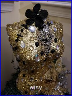 Vintage Embellished Holiday Mannequin