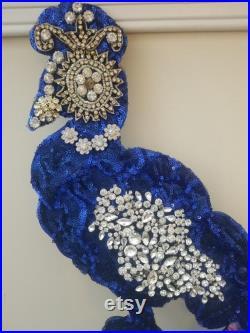 Vintage Embellished Peacock