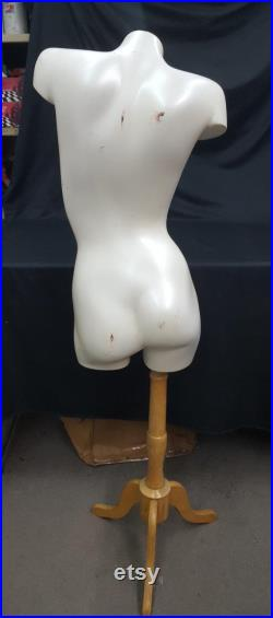 Vintage Female Mannequin Torso with Stand
