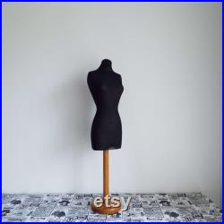 Vintage Half Scale Dress Form On Stand Mannequin 1 2 Scale Tailor's Dressmaker Form 1940's Fruitwood Dress Form Collectable Sewing Craft