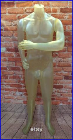 Vintage Male Yellow Mannequin Shop Display