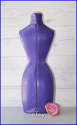 Vintage Smaller Scale Dress Form with Vinyl Cover, Vintage Dress Form (Inventory 3)