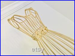 Vintage Sturdy Metal Wire small Dress Form 31 Tall Display Mannequin