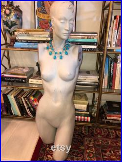 Vintage Woman's Fashion Display Mannequin