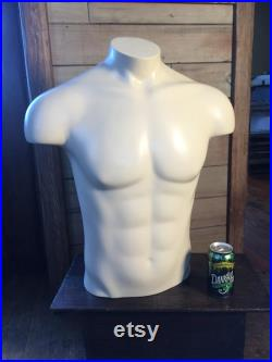 Vintage used male mannequin half size full torso in very good condition Free shipping