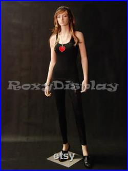 Women's Fleshtone Full Body Ladies Mannequin With Realistic Pretty Detailed Face A3F1