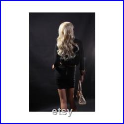 Women's Pretty Faced Realistic Flesh Tone Skin Mannequin with Wig LISA4