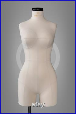 ZOE Extra soft anatmic dress form for corset and lingerie design Professional tailor mannequin torso Fully pinnable Tailor dummy
