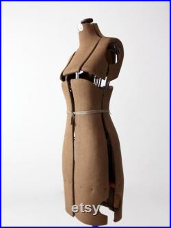 antique adjustable dress form, mannequin