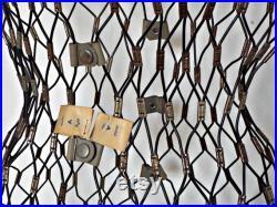 original FREESTANDING MANNEQUIN unique sewing metal mesh dress form diy craft antique sewing utensil