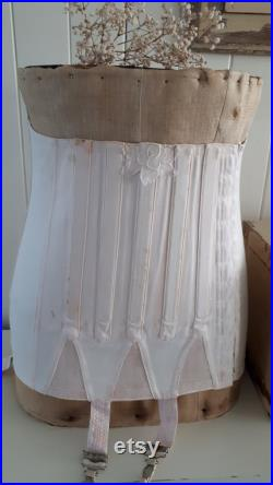 pretty antique mannequin buste dress form 1900s 1900 with pink corset