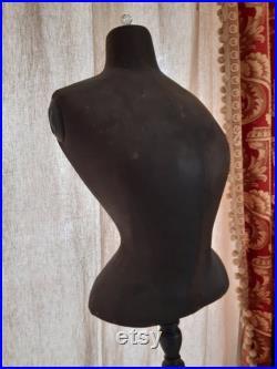 rare antique french MANNEQUIN Dress Form WASP WAIST Napoleon lll Ca 1850 Paris