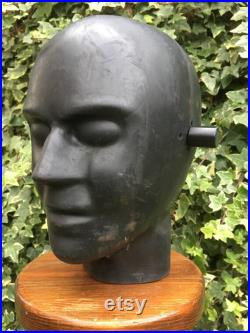 sorry Sold SOLD Crash Test Dummy Head Test Dummy Head Black Rubber Retail Shop mannequin Display